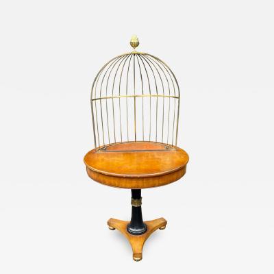 Grosfeld House Rare Hollywood Regency Mid Century Modern Empire Birdcage Jardenier Table