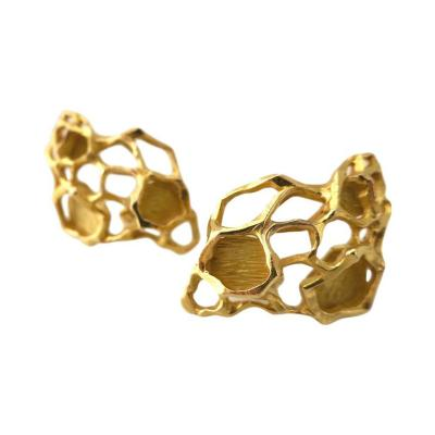 Gubelin Gubelin Gold Modernist Earrings 1970s