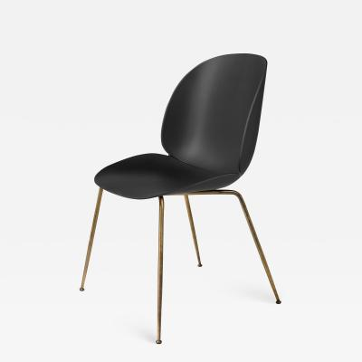 Gubi GamFratesi Beetle Dining Chair with Antique Brass Conic Base