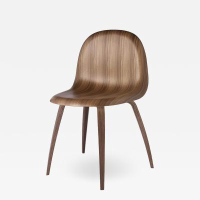 Gubi Gubi 3D Dining Chair in American Walnut by Komplot Design