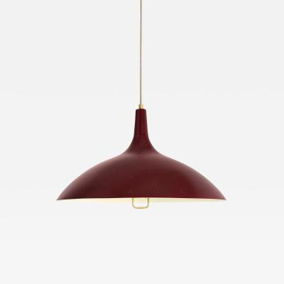 Gubi Paavo Tynell 1965 Pendant Lamp in Red