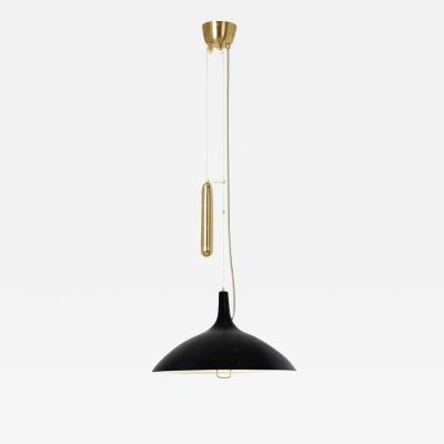 Gubi Paavo Tynell A1965 Counterweight Pendant Lamp in Black