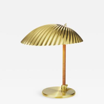 Gubi Paavo Tynell Model 5321 Brass and Rattan Table Lamp