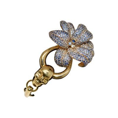 Gucci 18K Gucci Flower Skull Bracelet
