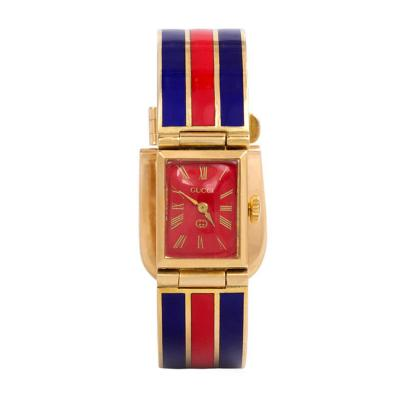Gucci 1960s Gucci Gold and Enamel Bracelet Watch