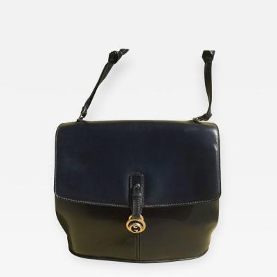 Gucci Dark Blue Gucci Double Shoulder Strap Bag