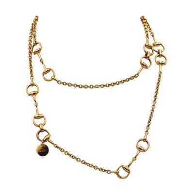 Gucci Gucci 18 Karat Rose Gold Horsebit Chain Necklace