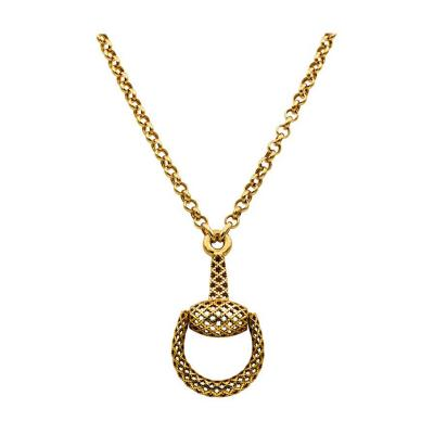 Gucci Gucci 18 Karat Yellow Gold Horse Bit Necklace