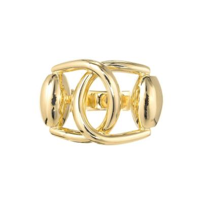 Gucci Gucci Double Buckle Solid Yellow Gold Cocktail Ring