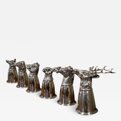 Gucci Gucci Silver Animal Stirrup Cups Full Set of 6