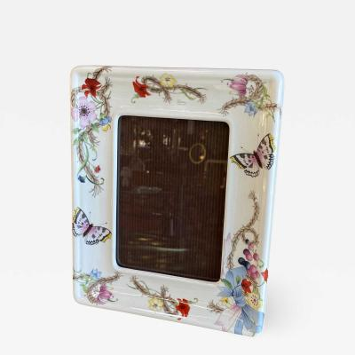 Gucci Gucci ceramic frame painted with floral designs Signed