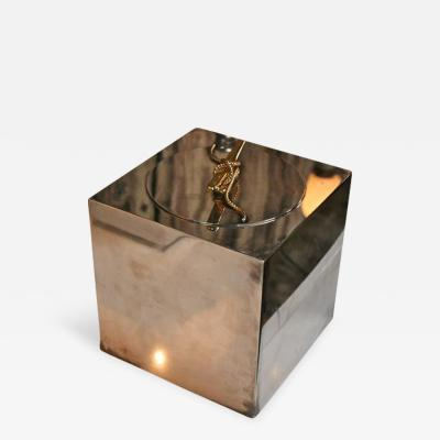 Gucci Ice Bucket in Silver Plate and Brass by Gucci