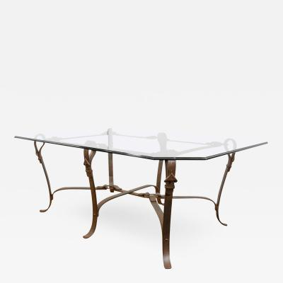 Gucci Stunning Modernist Gucci Influenced Equestrian Hand Forged Iron Table