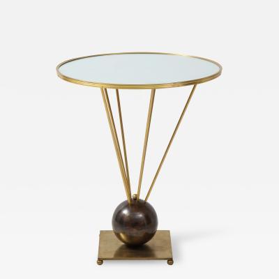 Gueridon Group Brass and mirror Gueridon table