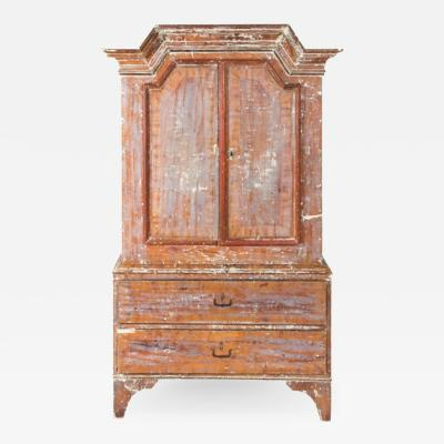Gustavian Style Gustavian 1760s Swedish Sponge Painted Cupboard
