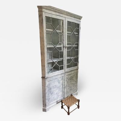 Gustavian style antique corner cupboard