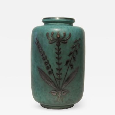 Gustavsberg Studio Gustavsberg Argenta Swedish Art Deco Vase