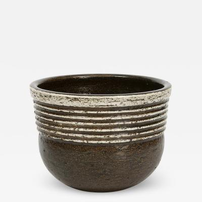 Gustavsberg Studio Sculptural Bowl with Ridged Detail by Britt Louise Sundell
