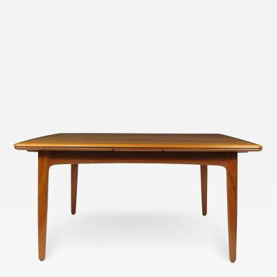 H P Hansen M belindustri HP Hansen Teak Draw Leaf Dining Table