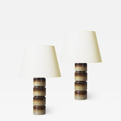 H gan s Pair of Mod Earthy Table Lamps by Hoganas