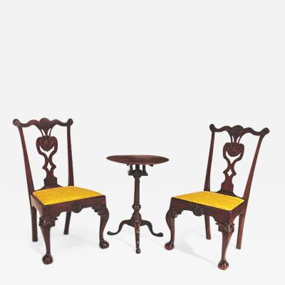 HL Chalfant American Fine Art Antiques Pair of Mahogany Chippendale Chairs Philadelphia c 1760 1775
