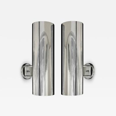 Habitat Paul Mayen Sconces in Polished Aluminum 1960s signed
