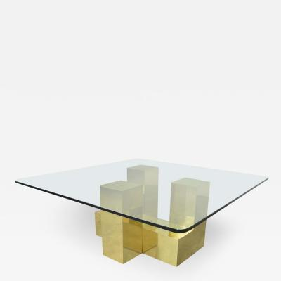 Habitat Paul Mayen for Habitat Cityscape Cocktail Table in Rare Brass after Paul Evans