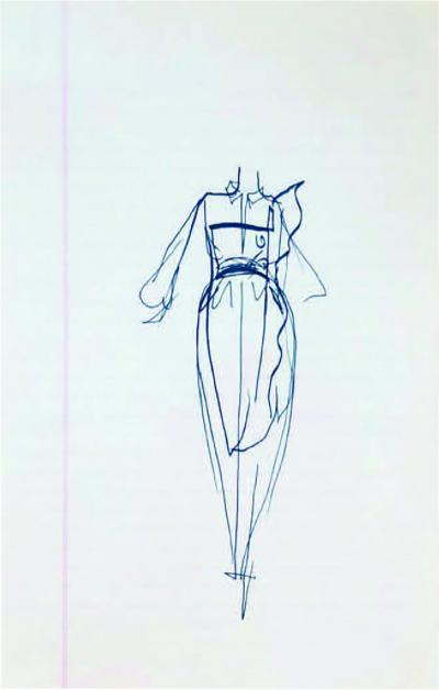 Halston Set of 10 Sketches Halston Priced Each