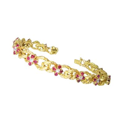Hammerman Brothers Hammerman Brothers Ruby and Diamond Bracelet