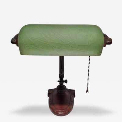 Handel Co Handel Bronze Desk Lamp Emeralite Shade