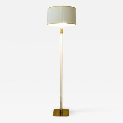 Hansen Lighting Co Glass and Brass Floor Lamp by Hansen