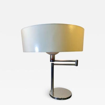Hansen Lighting Co HANSEN CHROME SWING ARM TABLE LAMP