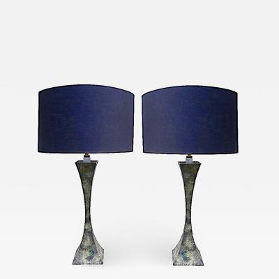 Hansen Lighting Co Pair of Hansen Bronze Table Lamps Designed by Damon Giffard Stewart Ross James