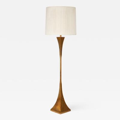 Hansen Lighting Co Sculptural gilt floor lamp by Stuart Ross James for Hansen circa 1960s