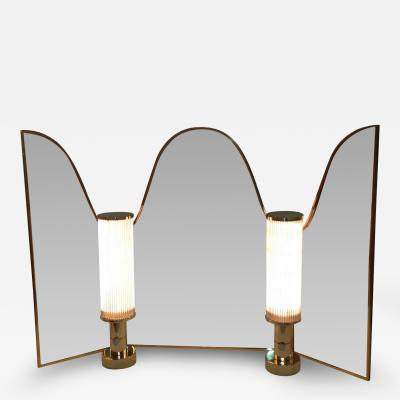 Hansen Lighting Vanity Mirror with Lamps