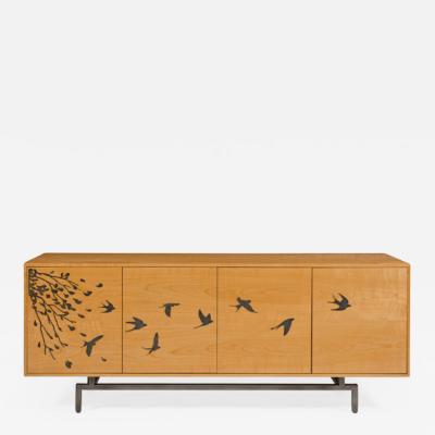 Harris Rubin Inc Leaves And Swallows Cabinet