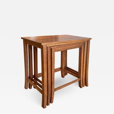 Harrods Set of Nesting Tables in Oak by Harrods