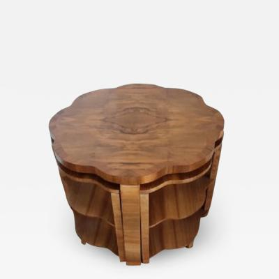 Harry Lou Epstein Furniture Co Art deco nest of table by harry and lou epstein