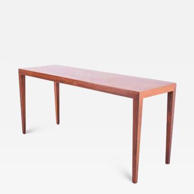 Haslev M belsnedkeri Midcentury Danish Rosewood Coffee Table by Severin Hansen Jr for Haslev