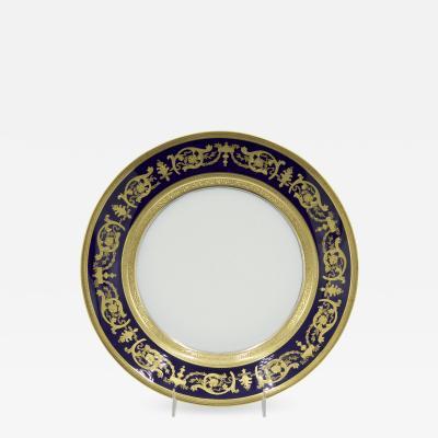 Haviland Co French Victorian Haviland Porcelain Dinner Plates
