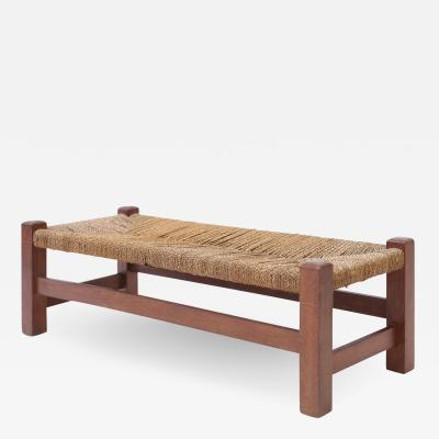 Heal s Heal Son Ltd Oak and Rush Long Stool or Bench
