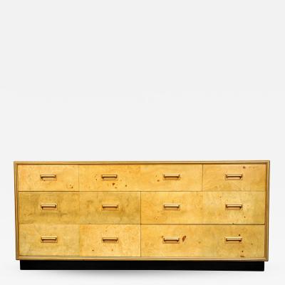 Henredon Furniture Henredon Olive Burlwood Scene Two Dresser