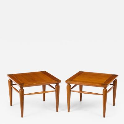 Henredon Furniture Pair of Mid Century Heritage Henredon Walnut Tables