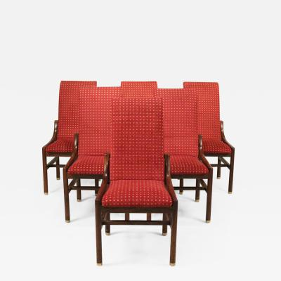 Henredon Furniture Set of 6 Dining Chairs by Henredon