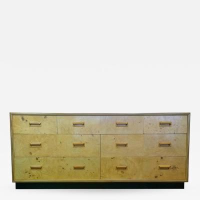 Henredon Furniture Signed Mid Century Modern Henredon Scene Two Dresser in Olive Burl with Macassar