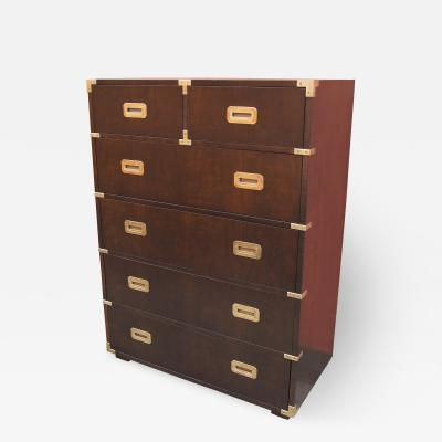 Henredon Furniture Walnut Campaign Series Dresser by Henredon