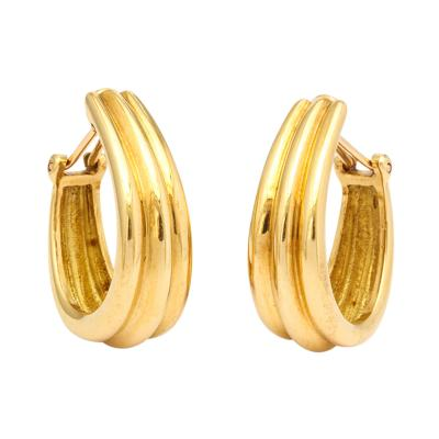 Herm s 18k Gold Hermes Hoop Earrings