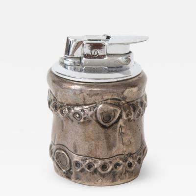 Herm s Bamboo Silver Sterling Lighter by Herm s France c 1950s