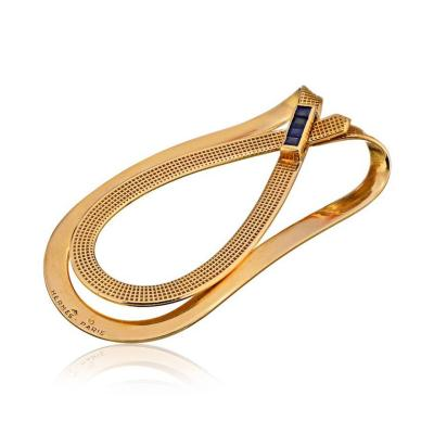 Herm s HERMES 18K YELLOW GOLD MONEY CLIP JEWELRY