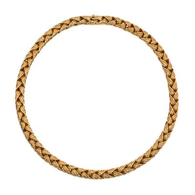 Herm s Herm s Estate Woven Gold Necklace